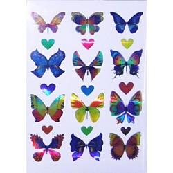 Set 10 folii cu Stickere fluturi