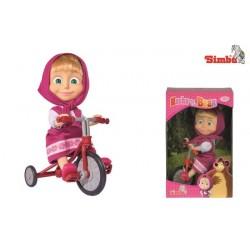 Masha si ursul papusa pe tricicleta