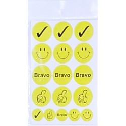 Set 10 folii cu Stickere Smiley/Bravo