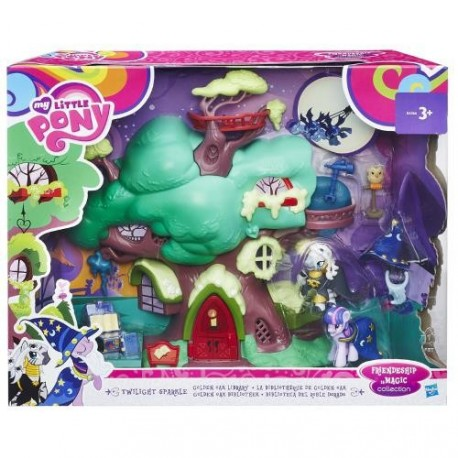 Set de Joaca My Little Pony Twilight Sparkle si Libraria din Copac