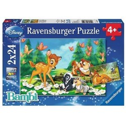 PUZZLE BAMBI, 2x24 PIESE