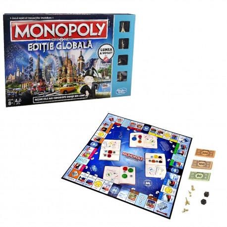 Joc de Societate Monopoly Here & Now Editie Globala