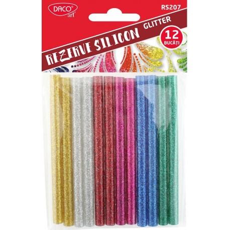 Rezerva silicon 7 mm set 12 glitter DACO