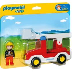 Playmobil 1.2.3 Camion Cu Pompier PM6967