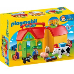 Playmobil 1.2.3 Set Mobil Ferma PM6962
