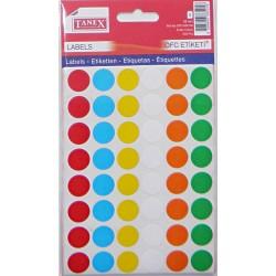 Bulinute adezive 16mm, 6 culori, 240 bucati