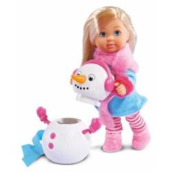 Papusa Evi Snowman cu om de zapada Simba Toys