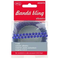 Accesorii craft - AD247A Banda bling albastru DACO
