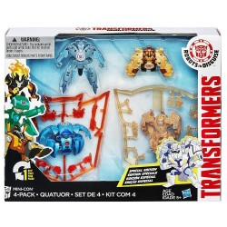 Set 4 Figurine Transformers Robots In Disguise Mini-Con