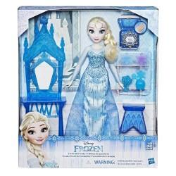 Papusa Frozen - Elsa cu Masuta de Infrumusetare