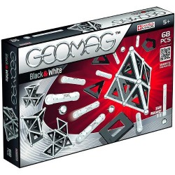 Set Constructie Magnetic Black and White 68