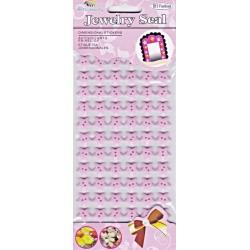 Set nasturi autoadezivi stelute roz