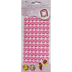 Set nasturi autoadezivi floricele roz