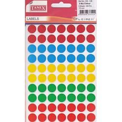 Bulinute adezive 13mm, 5 culori, 350 bucati