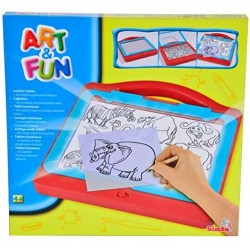 Tabla de desenat cu lumina Simba Art&Fun