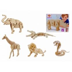 Joc puzzle lemn 3D animale safari Eichhorn