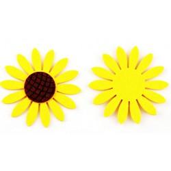 Decoratiune floarea soarelui fetru
