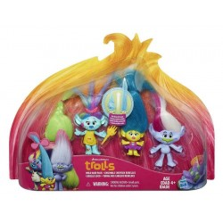Set Figurine DreamWorks Trolls Wild Hair