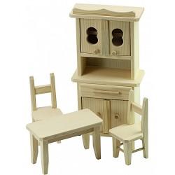 Mobilier de bucatarie lemn pentru papusi