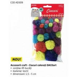 Accesorii craft - AD309 Ciucuri colorati DACO