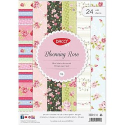 Hartie decorativa A4 24 coli Blooming Rose DACO HR931