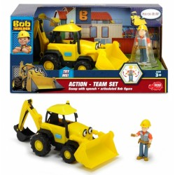 Vehicul Action Team Scoop +  figurina Bob Constructorul