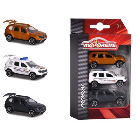 Set 3 masinute de metal Dacia Duster - Majorette