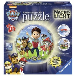 Puzzle 3D care lumineaza Paw Patrol, 72 Piese