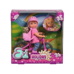 Papusa Evi Love Holiday Bike Simba Toys