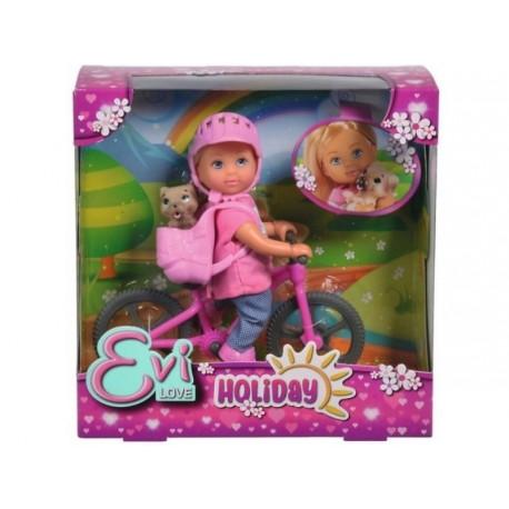 Papusa Evi Love Holiday Bike Simba Toys