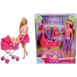 "Set 3 Papusi Steffi Love ""Sunshine Twins"" Simba Toys"