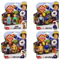 Set 2 figurine Pompierul Sam Simba Toys