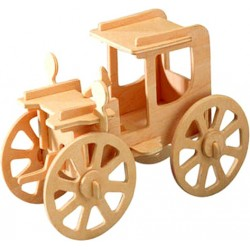 Joc puzzle lemn 3D Masina vintage