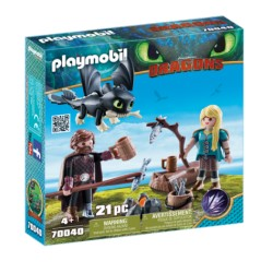 Playmobil Hiccup, Astrid si Pui De Dragon PM70040