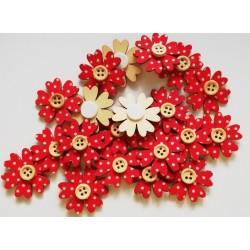 Decoratiune lemn floare