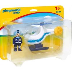 Elicopter de politie, Playmobil 1.2.3, PM9383