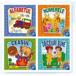 Set 4 Carti Pliante Educative