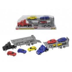 Autotransporter cu 3 masinute Dickie Toys