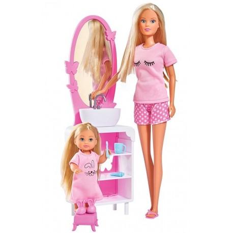 Set Papusi Steffi Love Ora de culcare, Simba Toys