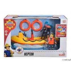 Barca cu Motor Neptun cu Figurina Pompierul Sam