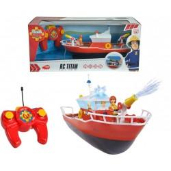 Barca Titan cu telecomanda si figurina, Pompierul Sam