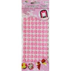 Set nasturi autoadezivi roz