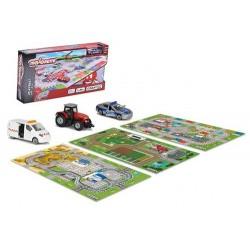 CreatiX Covor de joacă cu maşină , 96x51 cm, 3 modele,  Majorette