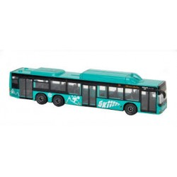 Autobuz metal MAN City Bus  Majorette, verde