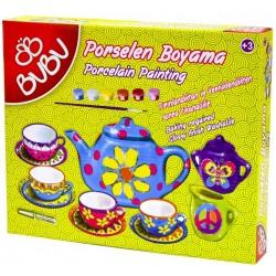 Set creativ Picteaza Serviciu ceai portelan, Bubu