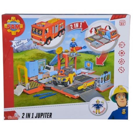 Set de joaca 2in1 Pompierul Sam Statia de pompieri Simba Toys