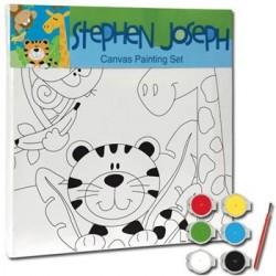 Panza pentru pictura Animale de la Zoo - canvas + culori