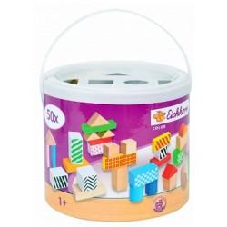 Cuburi multicolore, 50 piese, Eichhorn