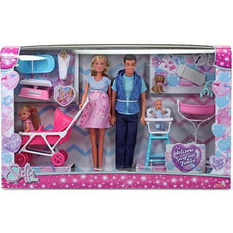Welcome Surprise Family Set 4 Papusi Steffi Love, Simba Toys