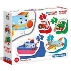 Puzzle bebe Clementoni 4 in 1 - Vehicule